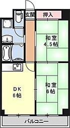 レジデンスオークラ[C503号室号室]の間取り