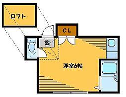 西池ハウス[2階]の間取り