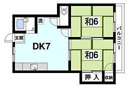 ハイツヨネダ[3階]の間取り