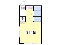 エステートミヨシA[2階]の間取り