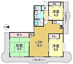 メゾンリリアール[5階]の間取り