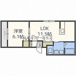 LUCY HOUSE[ルーシーハウス] 3階1LDKの間取り