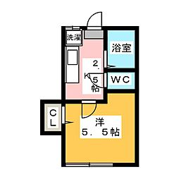 ホワイト・ハウス[2階]の間取り