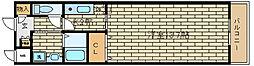 兵庫県神戸市須磨区車字口道谷の賃貸アパートの間取り