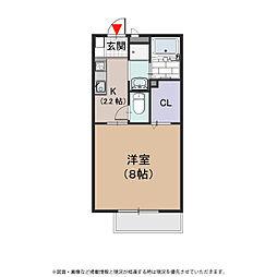 プラサート小阪[2階]の間取り