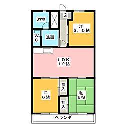 グレース山田[4階]の間取り