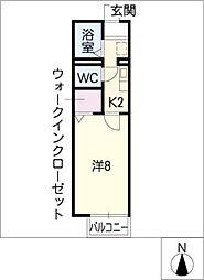 ラ・カモミール[1階]の間取り