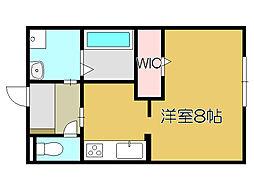 JR山陽本線 姫路駅 バス15分 西高前下車 徒歩1分の賃貸アパート 2階1Kの間取り
