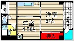 堀江テラス[707号室]の間取り