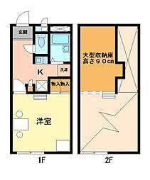 兵庫県相生市陸の賃貸アパートの間取り
