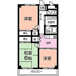 ヤマダイマンション[3階]の間取り