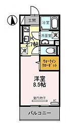 仮称)竹田向代町D-room[203号室号室]の間取り