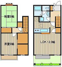 [テラスハウス] 東京都練馬区西大泉4 の賃貸【東京都 / 練馬区】の間取り