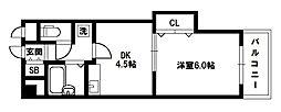 サウスフラット[2階]の間取り