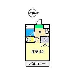 サニーパレス朝倉[1階]の間取り