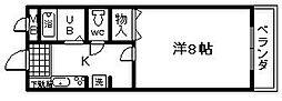 エスポワールOZAKI[306号室]の間取り