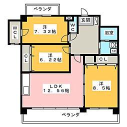 ソフィア御器所[1階]の間取り