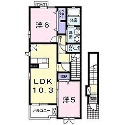 モンレーヴIII[2階]の間取り