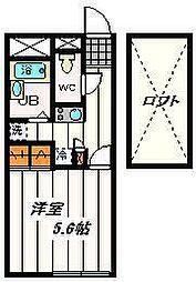 埼玉県朝霞市西原2丁目の賃貸アパートの間取り