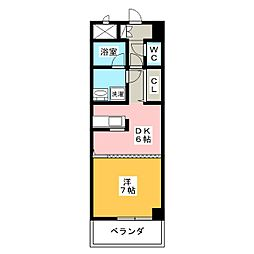 ルミエール青山8[5階]の間取り