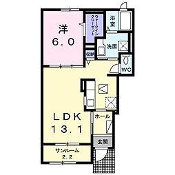 セレーノII C[1階]の間取り