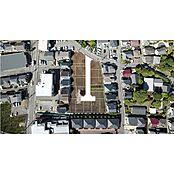 現地を上空から撮影した航空写真