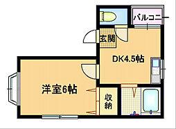 Osaka Metro谷町線 都島駅 徒歩4分の賃貸マンション 3階1DKの間取り