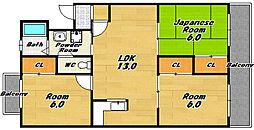 グランドール129[2階]の間取り