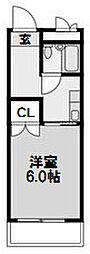 大建ハイツ第2三国マンション[506号室]の間取り