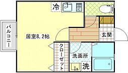 神奈川県横須賀市米が浜通2丁目の賃貸アパートの間取り