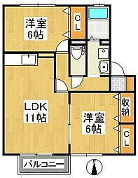 アパルトマントNFB A棟[2階]の間取り