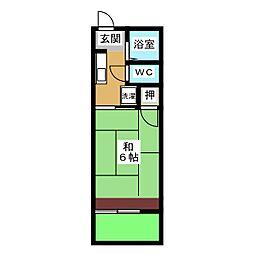 豊山みどりハイツ3[1階]の間取り