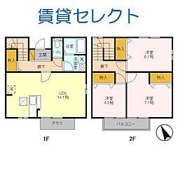 [テラスハウス] 千葉県松戸市根木内 の賃貸【/】の間取り