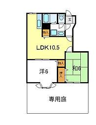 兵庫県加西市北条町小谷の賃貸アパートの間取り