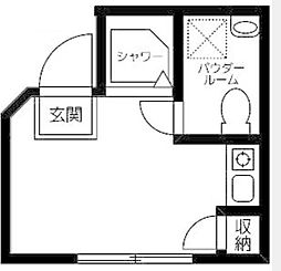 東京都西東京市保谷町3丁目の賃貸アパートの間取り