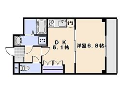 広島県廿日市市串戸5丁目の賃貸アパートの間取り