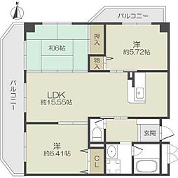 セゾンボナール[4階]の間取り