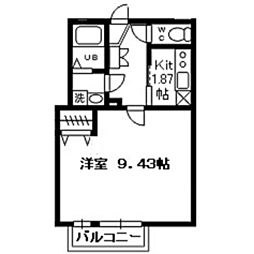 ゼフィールARAI[106号室]の間取り