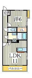 ルナ・テラス[2階]の間取り