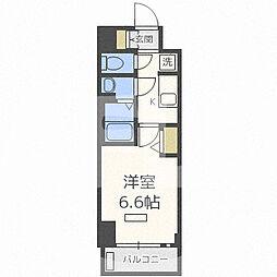 プレサンス梅田II 4階1Kの間取り