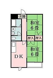 埼玉県草加市栄町1丁目の賃貸マンションの間取り