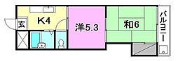 第7みのりハイツ愛光[408 号室号室]の間取り
