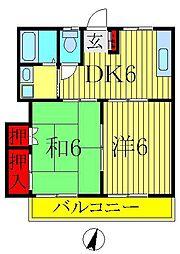 サンハイム桜台[203号室]の間取り