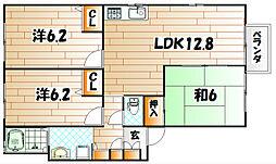 グランディール・86 C棟[2階]の間取り