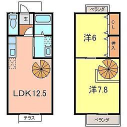[テラスハウス] 愛知県刈谷市泉田町城前 の賃貸【/】の間取り