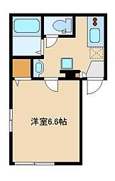 西武池袋線 東長崎駅 徒歩5分の賃貸マンション 2階1Kの間取り