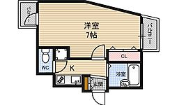 ディナスティ福島[6階]の間取り