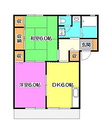 上中原ハウスC棟[1階]の間取り