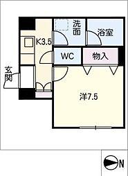SERDINA KOSAKURA 1階1Kの間取り