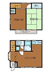 [テラスハウス] 東京都町田市原町田2丁目 の賃貸【/】の間取り